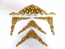 MIRROR FRAME SET OR PICTURE FRAME ORNATE CORNERS AND DOUBLE SCROLL MOULDINGS