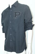 Polo Ralph Lauren Oxford Rugby Bulldog Shirt Button-Down Black Sz Large NWT