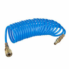 Air Compressor Coiled Hose / Line 5mtr 8x12mm Quick Fittings for Spray Gun