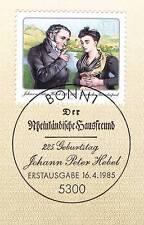 BRD 1985: Johann Peter Hebel Nr. 1246 mit Bonner Ersttagssonderstempel! 1A 156
