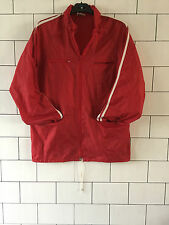 VINTAGE ACTIVE SPORTSWEAR ZIP UP RETRO 80s WINDBREAKER CAGOULE WATERPROOF UK S/M
