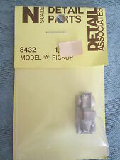 Detail Associates #8432 (N Scale) Auto Ford Model A -- Pick-Up Truck