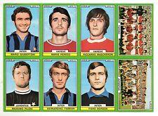 CALCIO  FIGURINA CALCIATORI  EDIS 1970-71 FOGLIO  DI  8  FIGURINE  NON  TAGLIATE