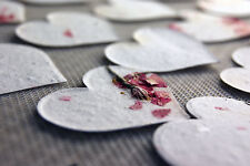 Pink Heart Shaped Plantable Flower Seed Recycled Paper Wedding Memorial Favors