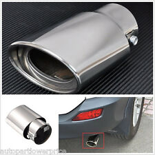 145mm Chrome Car Straight Tail Exhaust Pipe Tip Tail Throat Racing Sports Muffle