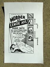 BLACK FILM POSTER (repro): MURDER ON LENOX AVENUE 1941 MAMIE SMITH