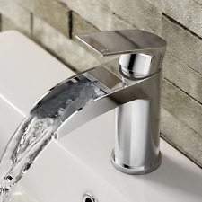 iBathUK | Luxury Waterfall Basin Sink Mixer Tap Chrome Bathroom Lever Faucet