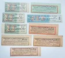 RUSSIAN 9 different coupons loan bonds