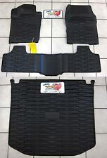 2013-2015 Jeep Grand Cherokee Rubber Slush Floor Mats & Cargo Tray Liner Set