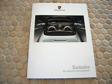 PORSCHE 997 911 CARRERA 996 TURBO S CAYENNE BOXSTER EXCLUSIVE BROCHURE 2005 USA