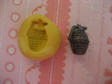 Tiny grenade bomb 11mm flexible silicone mold for chocolate fondant clay & more