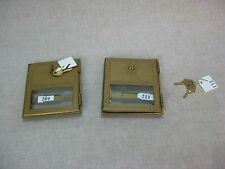 Pair of Vtg Brass Art-Deco Post Office Mailbox Doors