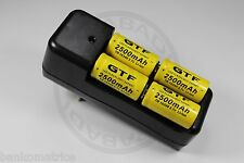 "4 PILES ACCUS RECHARGEABLE CR123A 16340 3.7V 2500mAh + CHARGEUR "" RAPIDE """