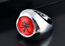 "Anime Naruto Uchiha Itachi Cosplay Ring Akatsuki Red ""Shu"" Ring"