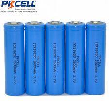 4x PKCELL 18650 2600mAh 3.7V Li-ion Rechargeable Battery Button Top Unprotected