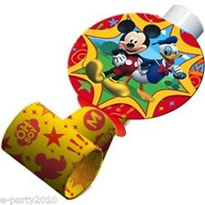 MICKEY MOUSE Fun & Friends BLOWOUTS (8) ~ Birthday Party Supplies Favors Paper