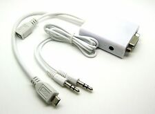Micro USB MHL to VGA Audio Adapter Samsung Galaxy S2 i9100 Note i9220 HTC ef13
