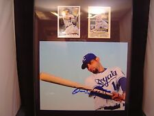 Omar Infante Autograph certified plaque 11 x 14 with 2 cards KC Royals