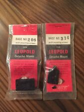 Leupold Detacho-Mount Base Set For Springfield A3 Rifles- New Old Stock