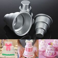 DIY Mini 3-Tier Cupcake Pudding Chocolate Cake Mold Baking Pan Mould Party FE