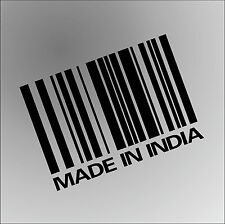MADE IN INDIA INDIAN Funny Rude Car Window Bumper Graphic Vinyl Decal Sticker