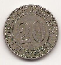Deutsches Reich Kaiserreich 20 Pfennig 1892 A, BERLIN, RAR!!!