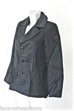 joli manteau caban en coton noir GAULTIER JUNIOR taille 14 ans EXCELLENT ÉTAT