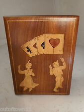 Inlaid Playing Card Box   ref1332