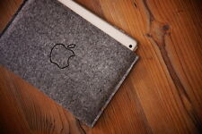 New iPad mini 4/3/2 RETINA Sleeve Case Bag  - SIMPLE with hand burn apple