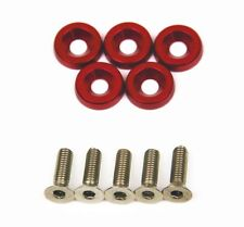 SUPER GT 5 x Anodise Red Fender Washers & Bolts Honda Civic EK EG EP FN FD TypeR