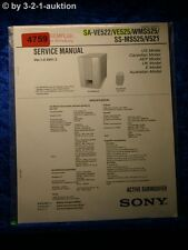Sony Service Manual SA VE522 /VE525 /WMS525 /SS MS525 /V521 Subwoofer (#4759)
