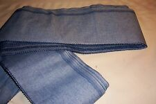 """10 YD OF 6"""" BLUE JEAN COLOR FABRIC FOR Rag Rug SEW WEAVE STRIP CRAFT HOME DECOR"""