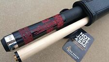 New VooDoo Pool Cue - 'Doomed' Unlucky 8 Black With Skulls LEATHER WRAP!