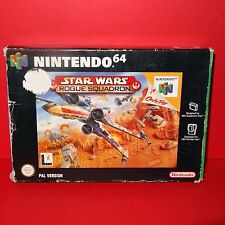 VINTAGE 1998 NINTENDO 64 N64 STAR WARS ROGUE SQUADRON CARTRIDGE VIDEO GAME BOXED