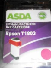 ASDA Remanufactured Compatible to Epson T1803 Magenta Ink Cartridge