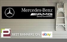 AMG MERCEDES BENZ Banner per officina, garage, ufficio, in PVC con occhielli, C63 ETC