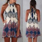Hot Sexy Womens Ladies Celeb Sleeveless Summer Beach Romper Boho Mini Dress
