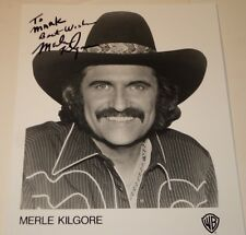 MERLE KILGORE / COUNTRY SINGER /  8 X 10  B&W  AUTOGRAPHED  PHOTO
