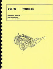 Eaton 771 Hydrostatic Transaxle Parts Manual