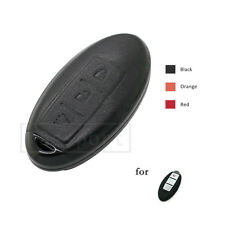 Genuine Leather Shell fit for NISSAN INFINITI Smart Key Remote Case Fob 3B BK