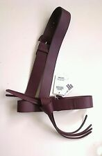 ZANA BAYNE & Other Stories One Shoulder Burgundy Leather Harness XS/S ONLY ONE!