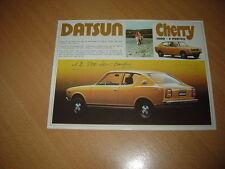 FEUILLET Datsun Cherry 1000 2 Portes de 1973