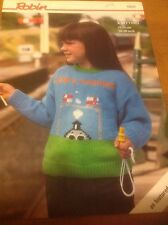 Robin Knitting Pattern - 13631 - Thomas The Tank Engine Sweater- Here's Thomas
