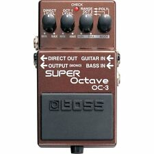 BOSS OC-3 Dual Super Octave Polyphonic Guitar Bass Effects Pedal w/ Overdrive