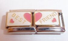BEST FRIEND 9mm Dbl Italian Charm I Love my Friends fits Classic Bracelets N314