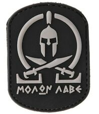 AC-110C: TACTICAL MORALE MOLON LABE Sparta PATCH (BLACK) (No tracking #)