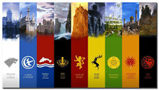 Game Of Thrones Hot TV Show Art Silk Poster 24x43inch Bedroom Decor Huge Posters