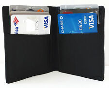 Black Mens GENUINE LEATHER Bifold  Thin Wallet Credit 6 Card Case Front Pocket++
