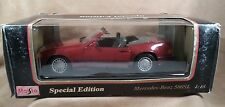 Maisto 1989 Mercedes-Benz 500SL Scale 1:18 Die Cast Model Car Special Edition