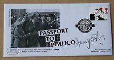 Comedians passaporto a Pimlico 1998 FDC firmato dall' attore HARRY Fowler